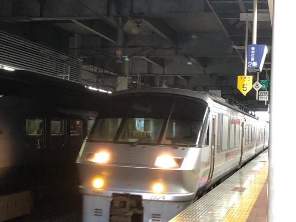 博多駅に到着したにちりんシーガイア7号