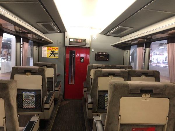 運転席側から見た783系電車のグリーン車
