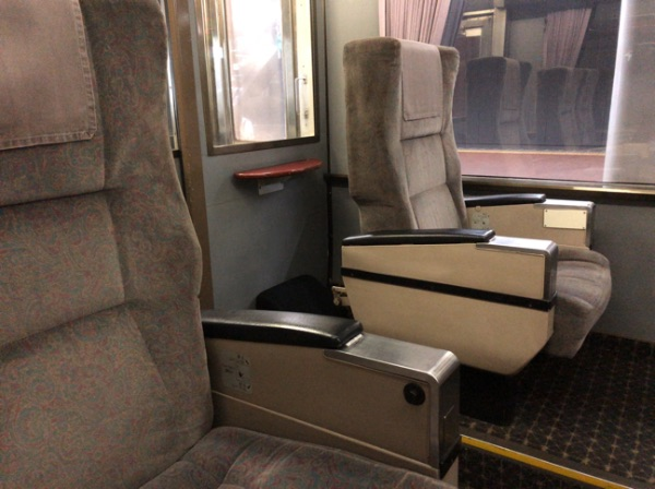783系電車のグリーン車の座席
