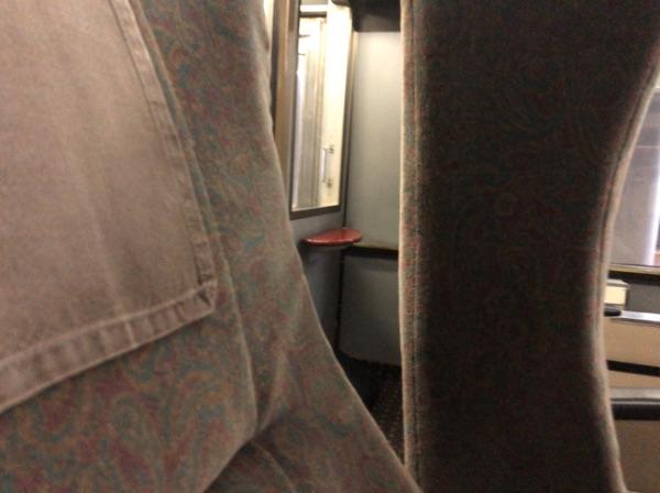 783系電車グリーン車の座席の背もたれ