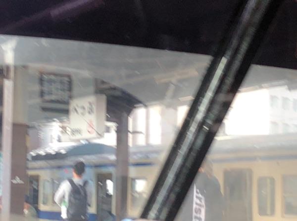 にちりんシーガイア7号から見た別府駅
