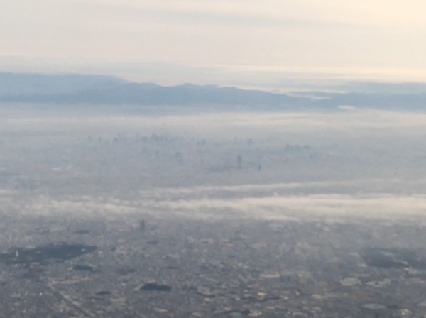 JAL2400便から見た大阪府上空
