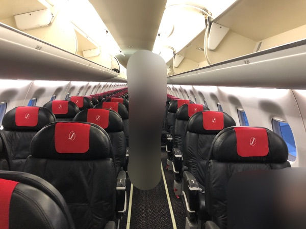 JAL2400便のクラスJ