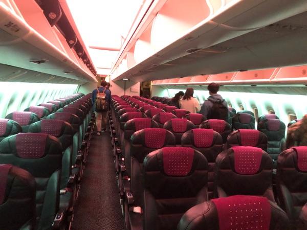 ボーイング767-300ERの普通席