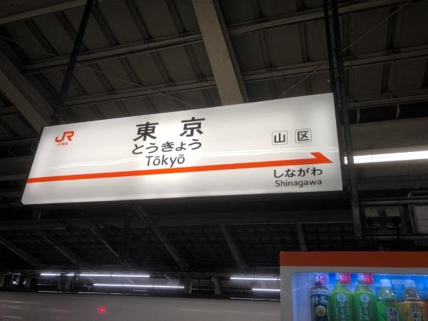 東京駅東海道新幹線ホームの駅名標