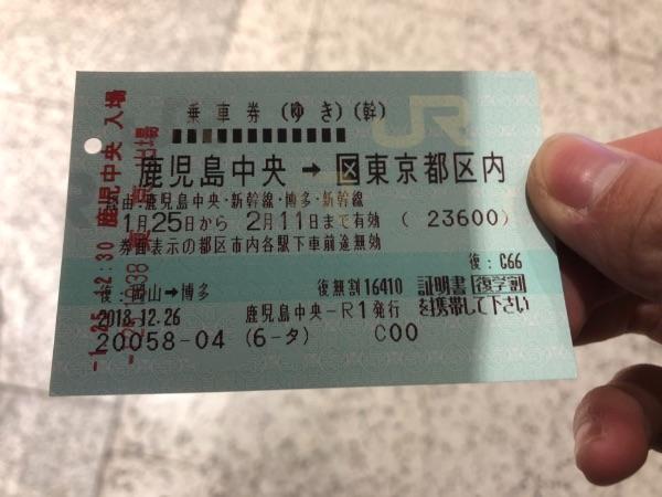 東京駅在来線乗り換え口通過後のきっぷ
