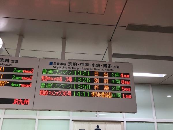 大分駅の発車標