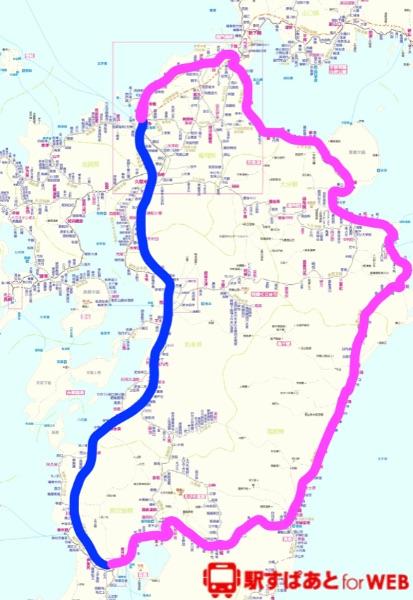 2019年11月の九州一周経路