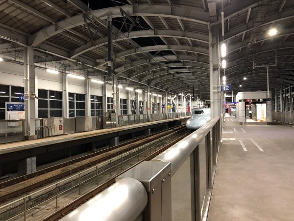 新八代駅に到着したさくら571号
