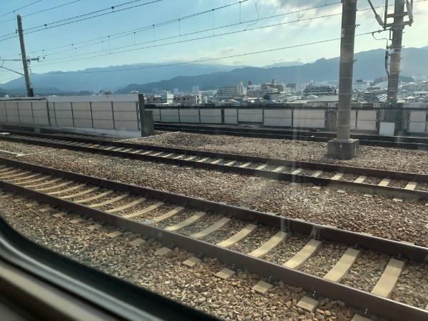 九州新幹線と博多南線の分岐ポイント