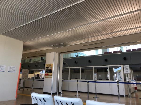 鹿児島空港国際線ターミナルチェックイン・カウンター