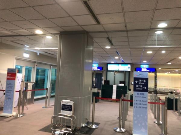 台湾桃園国際空港の搭乗口