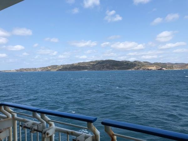 フェリーから見た壱岐島