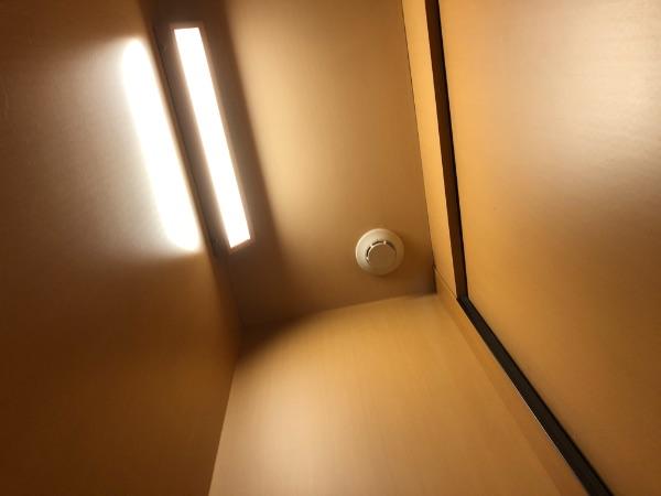 ソロ下段の入口灯の付いている状態