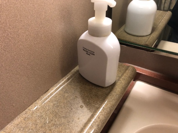 洗面台に置いてあるハンドソープ