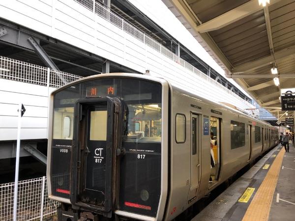 川内行きの817系電車