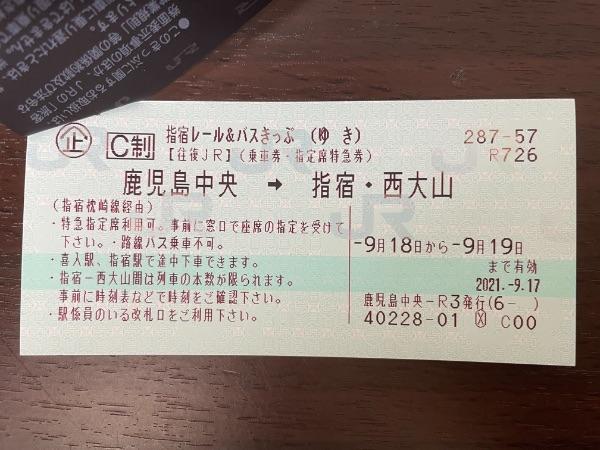 指宿レール&バスきっぷ(かえり)