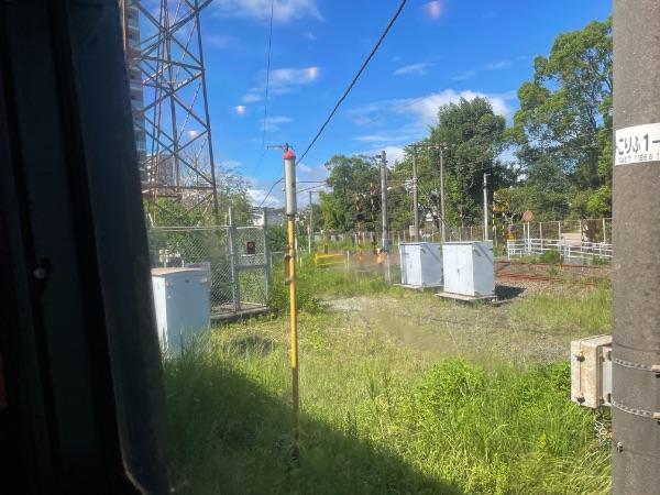 指宿のたまて箱1号から見た鹿児島本線