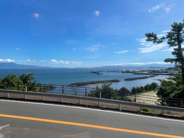 指宿のたまて箱1号から見た薩摩今和泉周辺の風景