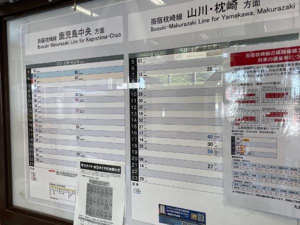 指宿駅の時刻表