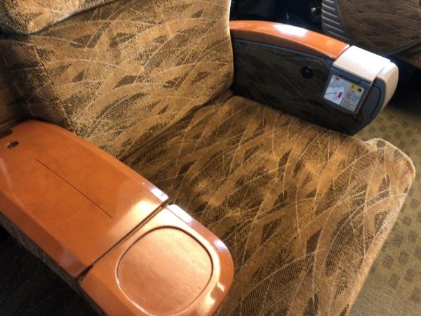 九州新幹線直通N700系の普通車指定席の座る部分