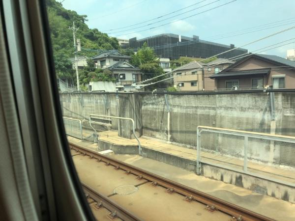 鹿児島中央駅を出た直後のみずほ616号