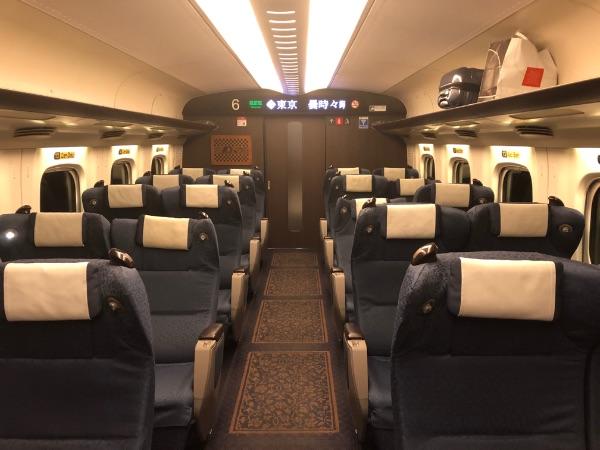 新幹線さくらのグリーン車指定席