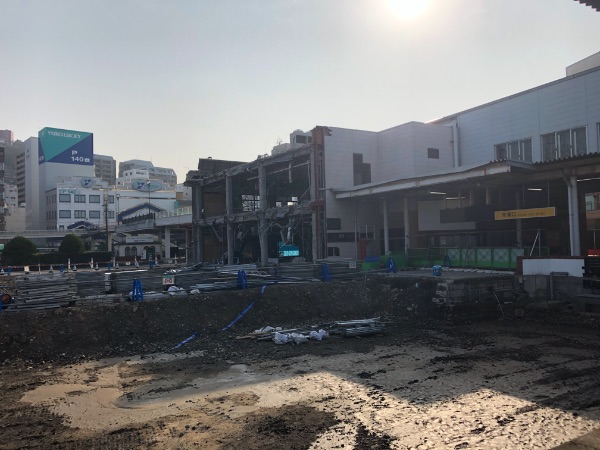 取り壊された以前の長崎駅駅舎