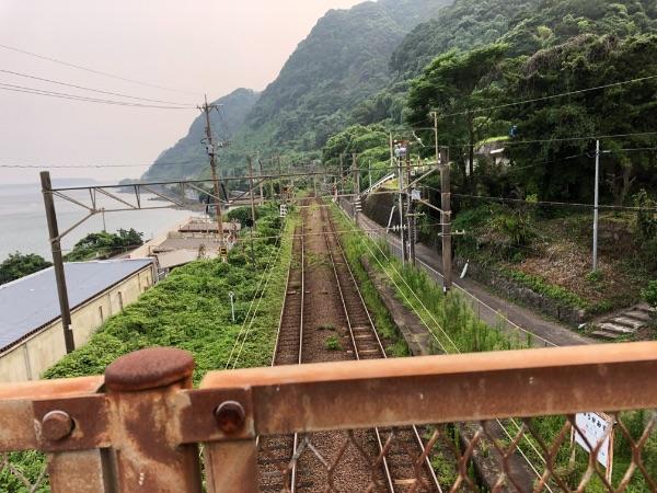 竜ヶ水駅の鹿児島中央方面の山側
