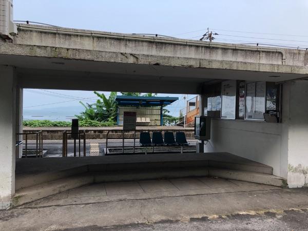 竜ヶ水駅構内