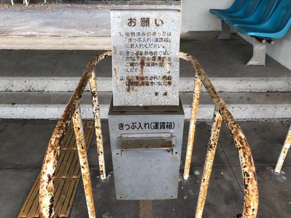 竜ヶ水駅の運賃箱