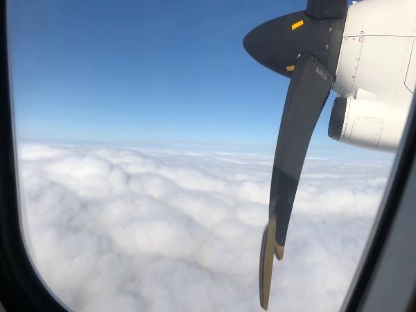 JAC3652便から見た雲
