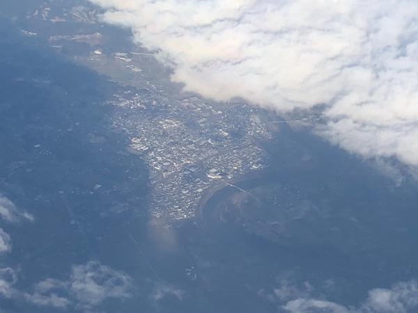 JAC3652便から見た九州本島