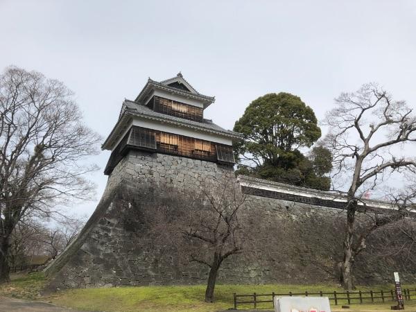 正面から見た熊本城の未申櫓