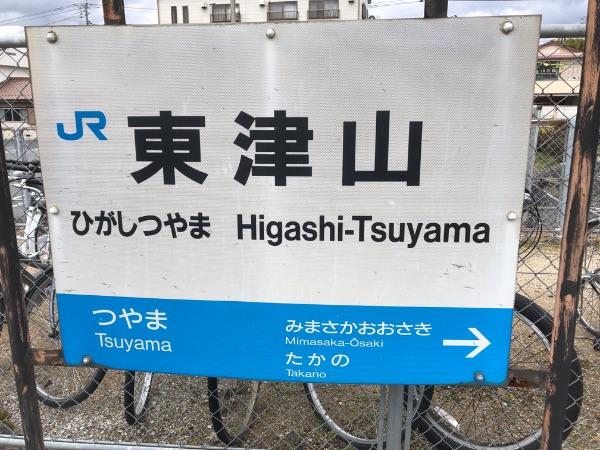 東津山駅の駅名標