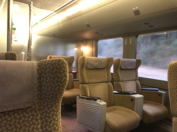 787系電車グリーン車の様子