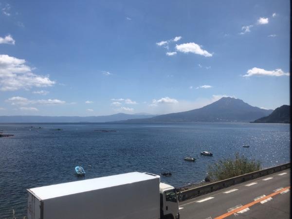 錦江湾と桜島