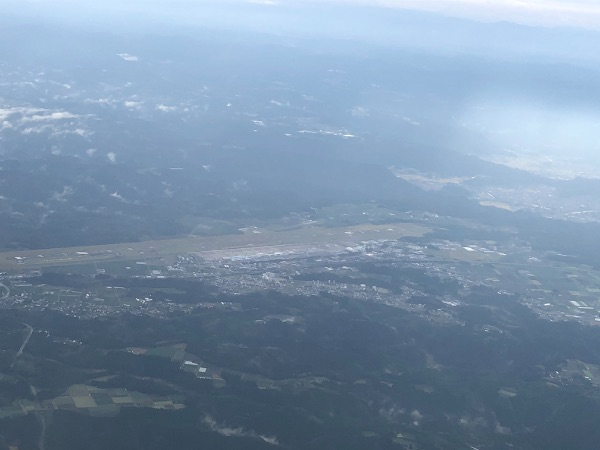 JAC3801便から見た鹿児島空港