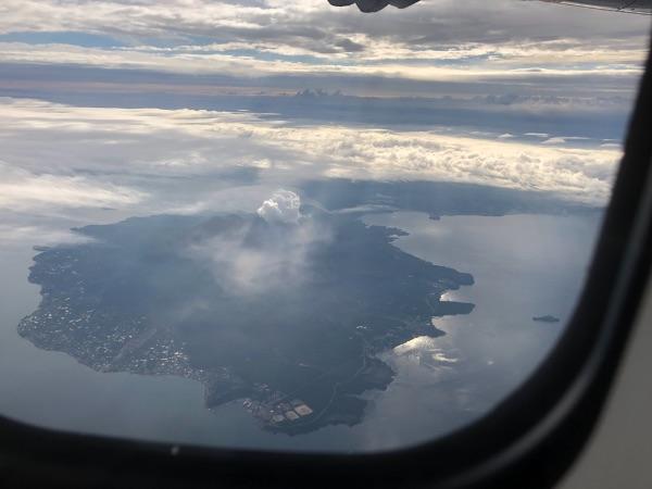 JAC3801便から見た桜島