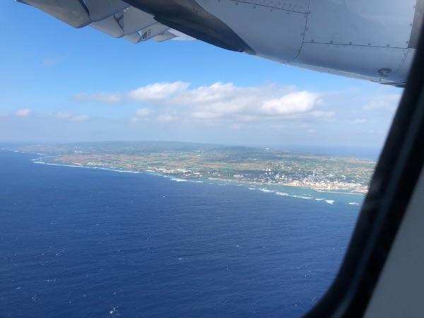 JAC3801便から見た沖永良部島1